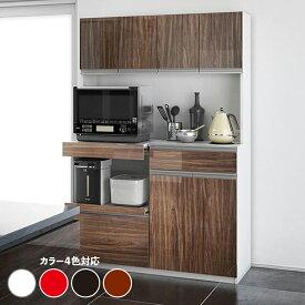商品名| STK ダイニングボード 幅 120cmカラー| ホワイト・レッド・ウォルナット・ブラックサイズ| 幅120.5 奥行48.5 高さ180cmハイカウンター レンジ台 組み立て商品キッチン収納 食器棚 カップボード大型レンジ対応 鏡面システムキッチンボード
