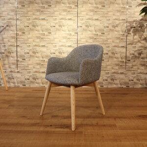商品名|UNO ウノ ダイニングチェア 一脚単品カラー|グレー色サイズ| 幅 50cm 奥行55cm 高さ73cm 北欧テイスト 脚部:ウレタン塗装 張地:ポリエステル肘付き 椅子 おしゃれ 食卓椅子 北欧 イス
