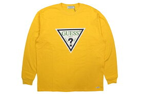 GUESS GREEN LABEL TRIANGLE LOGO L/S T-SHIRTS(YELLOW)ゲスグリーンレーベル/ロングスリーブティーシャツ/イエロー