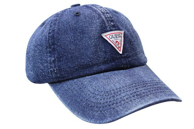 GUESS SMALL TRIANGLE LOGO DENIM TWILL CAP(MG0A2004J:DARK BLUE INDIGO)ゲス/ツイルキャップ/ダークブルーインディゴ