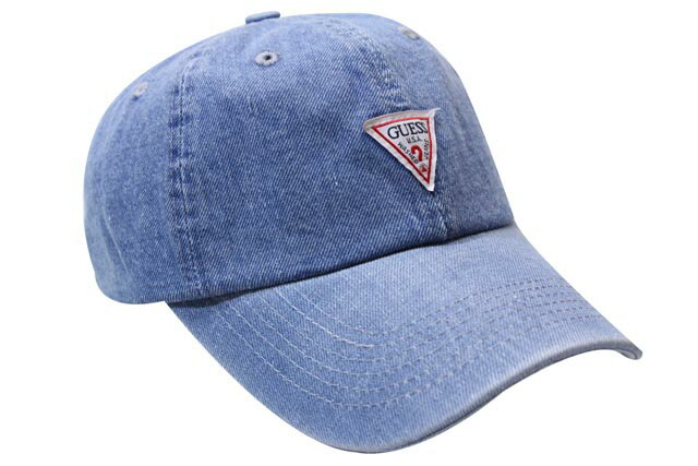 GUESS SMALL TRIANGLE LOGO DENIM TWILL CAP(MG0A2004J:LIGHT BLUE INDIGO)ゲス/ツイルキャップ/ライトブルーインディゴ