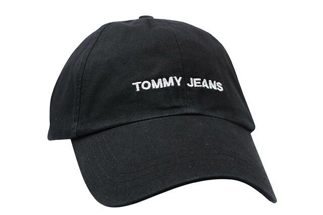 TOMMY JEANS TWILL CAP(BLACK)トミー ジーンズ/ツイルキャップ/ダドキャップ/ブラック