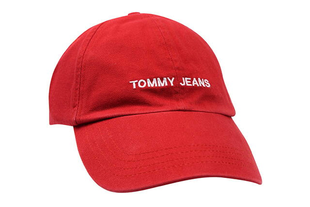 TOMMY JEANS TWILL CAP(RED)トミー ジーンズ/ツイルキャップ/ダドキャップ/レッド
