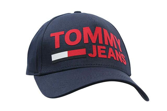 TOMMY JEANS LOGO TWILL CAP(NAVY)トミー ジーンズ/ツイルキャップ/ダドキャップ/ネイビー