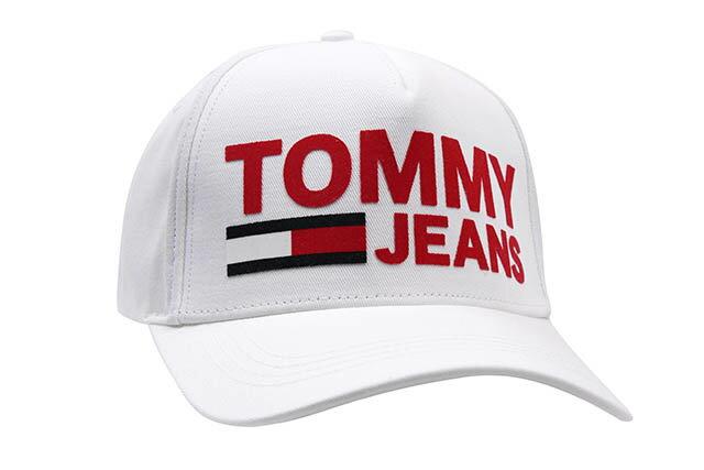 TOMMY JEANS LOGO TWILL CAP(WHITE)トミー ジーンズ/ツイルキャップ/ダドキャップ/ホワイト