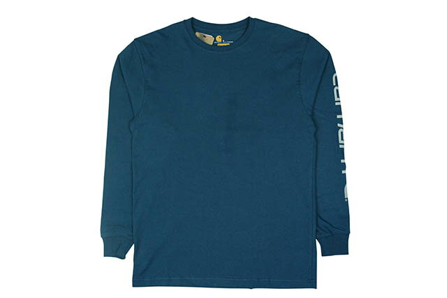 Carhartt WORKWEAR L/S GRAPHIC LOGO T-SHIRTS (K231/984:STREAM BLUE×GRAY)カーハート/ロングスリーブティーシャツ/ストリームブルー×グレー