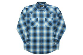 PENDLETON L/S CHECK SHIRTS(DA029-65434)(BLUE×BLACK×WHITE)ペンドルトン/ロングスリーブチェックシャツ/ブルー×ブラック×ホワイト