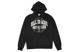 BILLIONAIRE BOYS CLUB BB COLLEGIATE HOODIE (881-9312:BLACK)ビリオネアボーイズクラブ/プルオーバーフーディー/ブラック