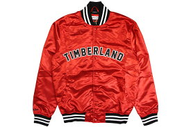 MITCHELL & NESS x TIMBERLAND SATIN TRACK JACKET (RED)ミッチェルアンドネス/ティンバーランド/サテントラックジャケット/レッド