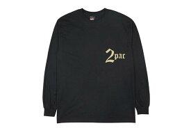 RAP TEES 2PAC CROSS L/S TEE (RT-TU002:BLACK)ラップティーズ/ロングスリーブティーシャツ/ブラック