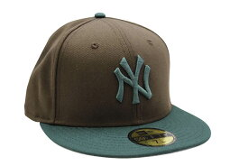 NEW ERA NEW YORK YANKEES 59FIFTY FITTED CAP (BROWN/GREEN)ニューエラ/フィッテッドニュ−エラキャップ/ブラウン×グリーン