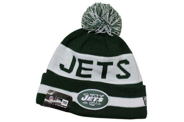 NEW ERA POM KNIT CAP (NFL/New York Jets/773: Green×White)ニューエラ/ニットキャップ/緑×白