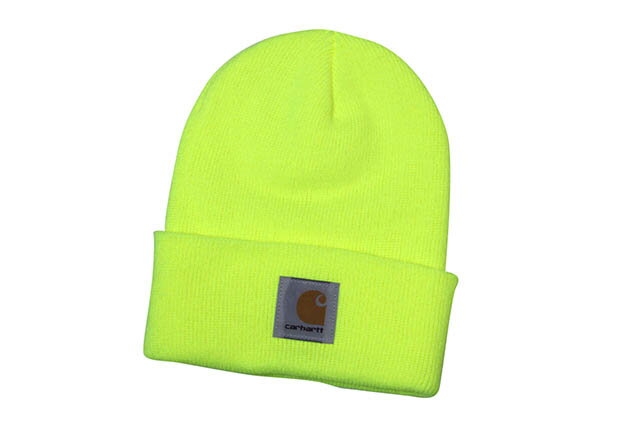 Carhartt ACRYLIC BEANIE CAP(A18:BLM/BRIGHT LIME YELLOW)カーハート/ニットキャップ/ビーニー/ライムイエロー