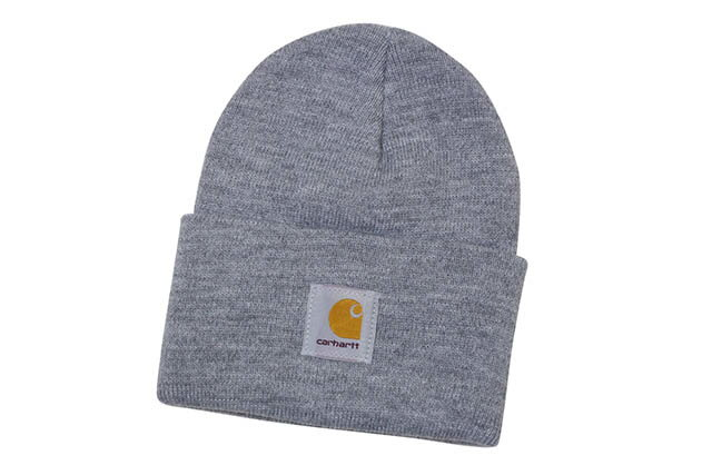 Carhartt ACRYLIC BEANIE CAP(A18:HGY/HEATHER GREY)カーハート/ニットキャップ/ビーニー/グレー