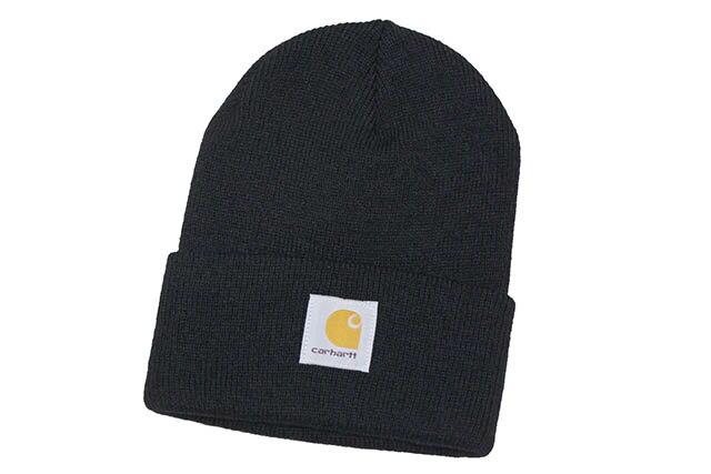 Carhartt ACRYLIC BEANIE CAP(A18:BLACK)カーハート/ニットキャップ/ビーニー/ブラック