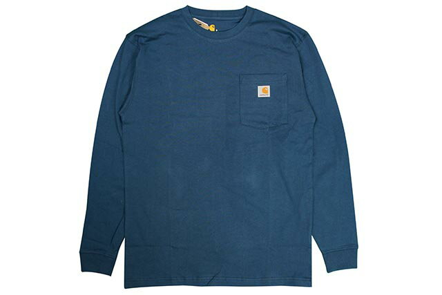 Carhartt WORKWEAR L/S POCKET T-SHIRTS(K126/984:STREAM BLUE)カーハート/長袖Tシャツ/ストリームブルー