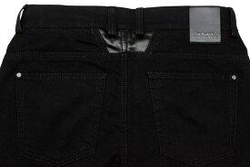 VERSACE COLLECTION 6-POCKET STRETCH DENIM PANTS (V600148/VE7242: Black)ヴェルサーコレクション/ブラックデニムパンツ/黒