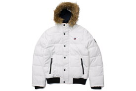 TOMMY HILFIGER ESSENTIALS HOODED BOMBER JACKET(159AP863:WHITE)トミーヒルフィガー/ボンバージャケット/ホワイト
