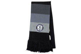 MITCHELL&NESS SCARF (Rainbow/NBA/Brooklyn Nets: Black×Gray)ミッチェル&ネス/マフラー/スカーフ/黒×グレー