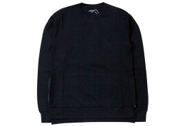 CITYLAB PERFORMANCE FLEECE SIDE-ZIP CREW SWEAT (IF016CR: BLACK)シティラブ/クルーネックスウェット/黒