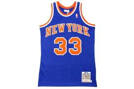 MITCHELL&NESS AUTHENTIC THROWBACK JERSEY (NEW YORK KNICKS 1991-92/PATRICK EWING: BLUE)ミッチェル&ネス/スローバックバスケットゲームジャージ/青