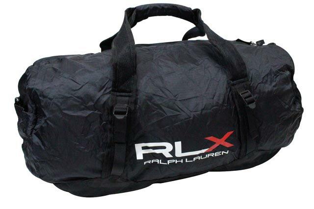RLX (RALPH LAUREN) LIGHTWEIGHT PACKABLE DUFFLE BAG (BLACK)RLXラルフローレン/ダッフルバッグ/黒/男女兼用
