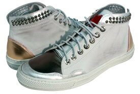 HTC (Hollywood Trading Company) JOURNEY SNEAKER METAL HIGH (13SHTSC05: WHITE/GUNMETAL)エイチティーシー/スニーカー