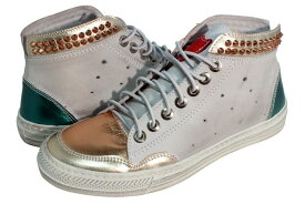 HTC (Hollywood Trading Company) JOURNEY SNEAKER METAL HIGH (13SHTSC051: WHITE/PLATINUM)エイチティーシー/スニーカー