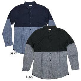 BENCH/(ベンチ) 2tone L/S Shirt (長袖シャツ)