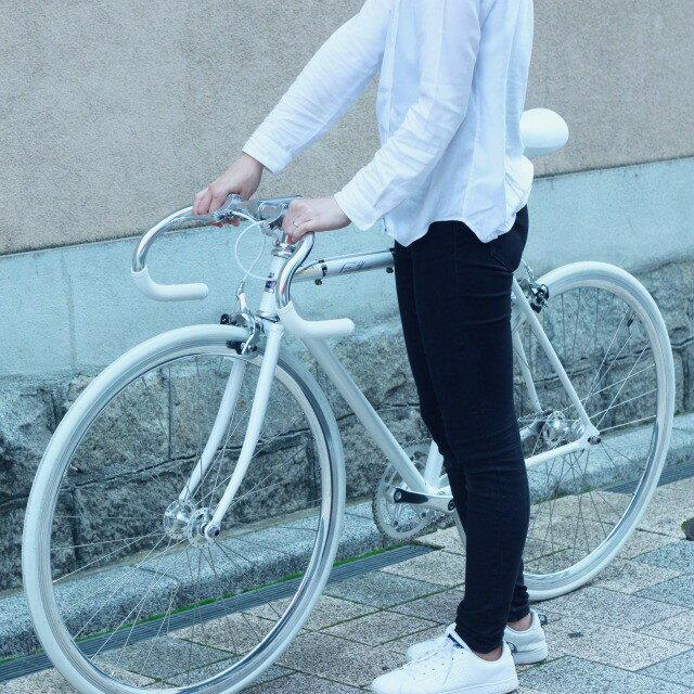 【組立・整備済】FUJI FEATHER 2018 フジ フェザー Aurora White ピストバイク シングルスピード