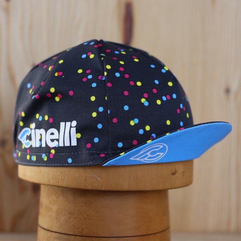[2枚以上で2枚目から20%off][メール便対応]CALEIDO DOTS CAP サイクルキャップ Cinelli チネリ イタリア製