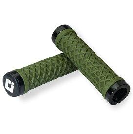 ODI VANS バンズ ARMY GREEN W/ BLK LOCK-ON グリップ MTB クロスバイク 自転車ハンドル用グリップ アーミー グリーン