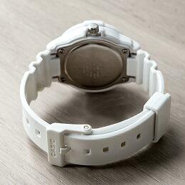 CASIOSPORTSANALOGUELADYSカシオスポーツアナログレディースLRW-200H-3C腕時計チープカシオチプカシプチプラ防水ホワイト白グリーン緑チェック日本未発売