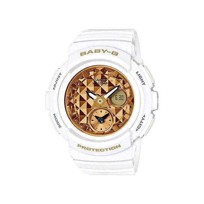 CASIO BABY-G STUDS DIAL SERIES カシオ ベビーG スタッズ ダイアル シリーズ BGA-195M-7A 腕時計 レディース ベビージー アナデジ 防水 ホワイト 白 ゴールド 金