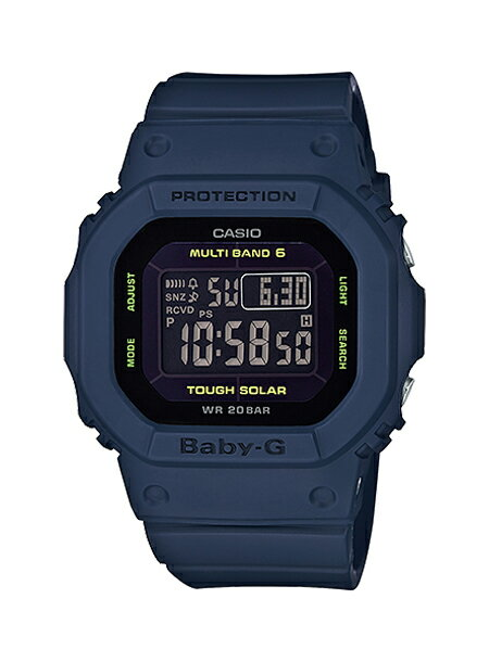 【電波】【ソーラー】CASIO BABY-G カシオ ベビーG BGD-5000-2JF 腕時計 レディース BABYG ベビージー デジタル ソーラー電波時計 防水 ネイビー ブラック 黒
