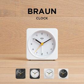 BRAUN ブラウン アラーム クロック BC03 時計 置き時計 目覚まし時計 トラベル 旅行 携帯 小型 アナログ ブラック 黒 ホワイト 白