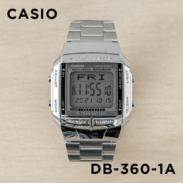 CASIO DATA BANK カシオ データバンク DB-360-1A 腕時計 メンズ レディース デジタル シルバー ブラック 黒