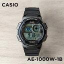【10年保証】CASIO カシオ スタンダード AE-1000W-1B 腕時計 メンズ レディース キッズ 子供 男の子 女の子 チープカシオ チプカシ デジタル 日付 防水 ブラック 黒 グレー 海外モデル