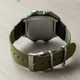 CASIOSTANDARDDIGITALカシオスタンダードデジタルAE-1200WHB-3B腕時計メンズレディースチープカシオチプカシプチプラ防水カーキブラック黒ナイロンベルト日本未発売
