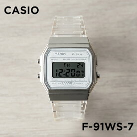 【10年保証】【日本未発売】CASIO カシオ スタンダード F-91WS-7 腕時計 メンズ レディース キッズ 子供 男の子 女の子 チープカシオ チプカシ デジタル 日付 ホワイト 白 スケルトン 海外モデル