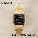 【10年保証】CASIO カシオ スタンダード レディース LA680WGA-1B 腕時計 キッズ 子供 女の子 チープカシオ チプカシ デジタル 日付 ゴールド 金 ブラック 黒