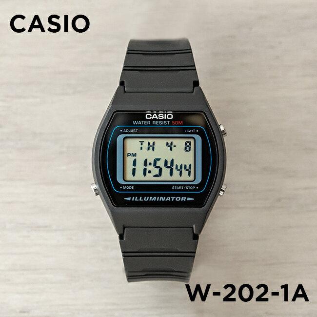 【10年保証】CASIO STANDARD DIGITAL カシオ スタンダード デジタル W-202-1A 腕時計 メンズ レディース キッズ 子供 男の子 女の子 チープカシオ チプカシ プチプラ ブラック 黒 海外モデル