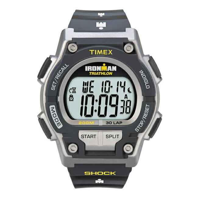 TIMEX IRONMAN ORIGINAL 30 SHOCK FULL-SIZE タイメックス アイアンマン オリジナル 30 ショック メンズ T5K195 腕時計 ランニングウォッチ デジタル ブラック 黒 グレー