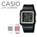 CASIO POPTONE DIGITAL LADYS カシオ ポップトーン デジタル レディース LDF-20 SERIES 腕時計 時計 ブラック 黒 ピン…