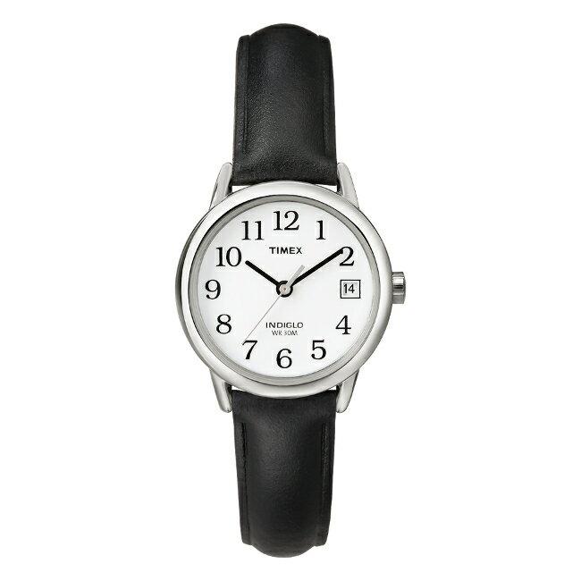 TIMEX EASY READER 25MM LADYS タイメックス イージーリーダー 25MM レディース T2H331 腕時計 アナログ シルバー ホワイト 白 レザー 革ベルト 海外モデル