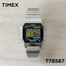 TIMEX タイメックス クラシック デジタル T78587 腕時計 メンズ レディース シルバー ブラック 黒