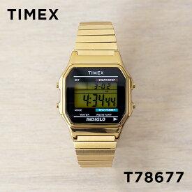 TIMEX タイメックス クラシック デジタル T78677 腕時計 メンズ レディース ゴールド 金 ブラック 黒