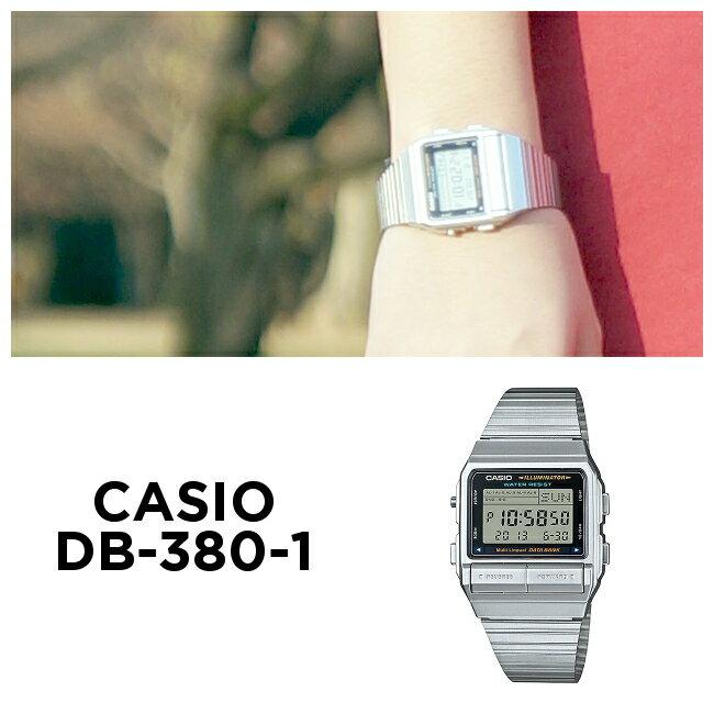 CASIO DATA BANK カシオ データバンク DB-380-1 腕時計 メンズ レディース デジタル シルバー ブラック 黒 日本未発売