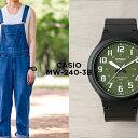 【10年保証】CASIO カシオ スタンダード メンズ MW-240-3B 腕時計 レディース キッズ 子供 男の子 女の子 チープカシオ チプカシ アナログ ブラック 黒 カーキ 海外モデル