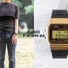 CASIOSTANDARDDIGITALカシオスタンダードデジタルF-91WM-9A腕時計メンズレディースチープカシオチプカシプチプラゴールド金ブラック黒日本未発売